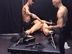 Hot wax and sparklers abuse a young slave
