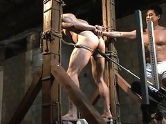 Bodybuilder Nick Armani gets machine fucked in the ass.