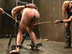 Christian Wilde and Van Darkholme use and abuse Patrick Rouge during a live show.